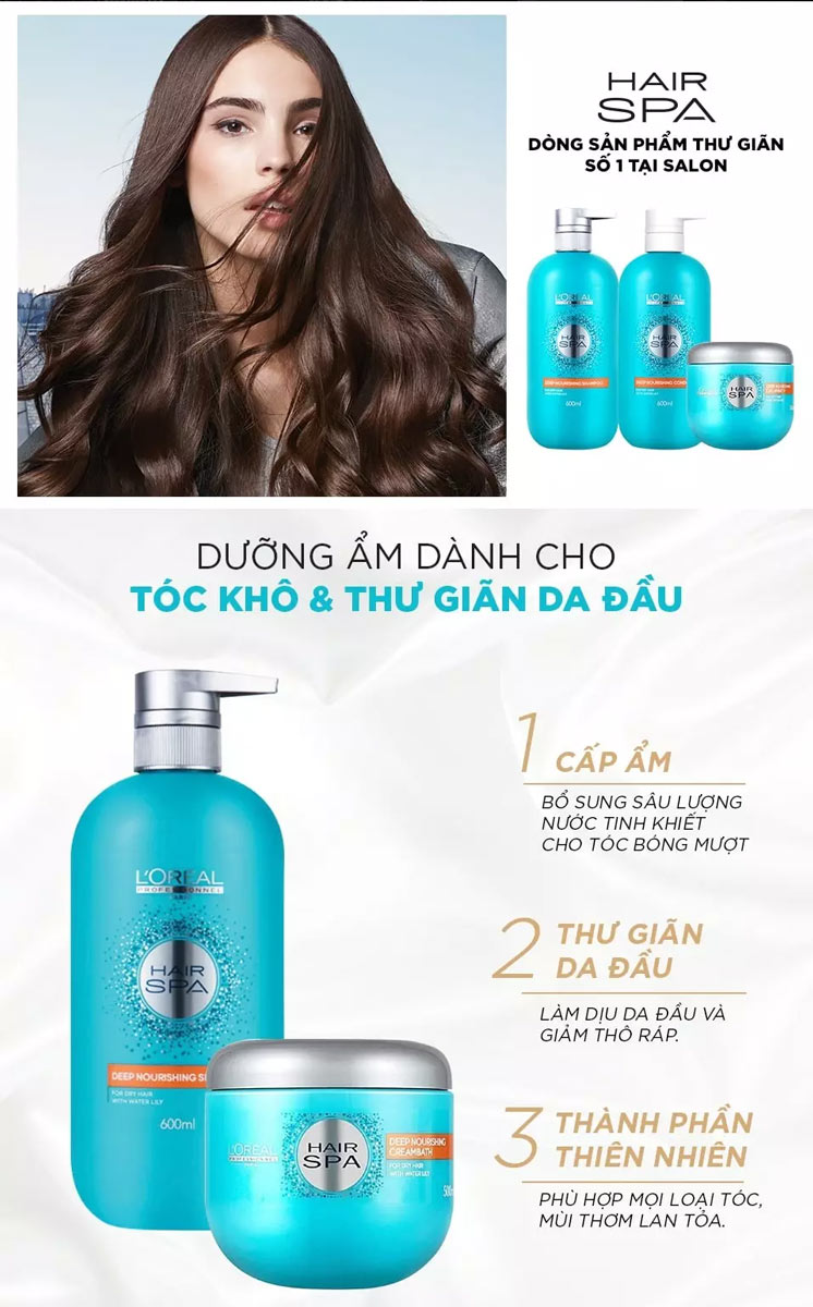Dầu Hấp Dành Cho Tóc Khô L'Oréal Professionnel Hair Spa Deep Nourishing Creambath