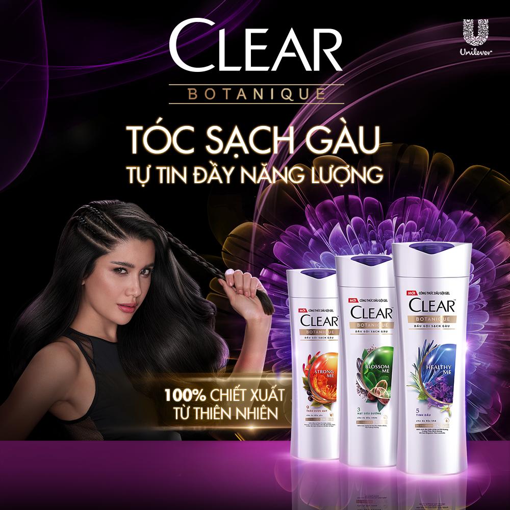 Dầu Gội Sạch Gàu CLEAR Botanique Shampoo Chiết Xuất Thực Vật