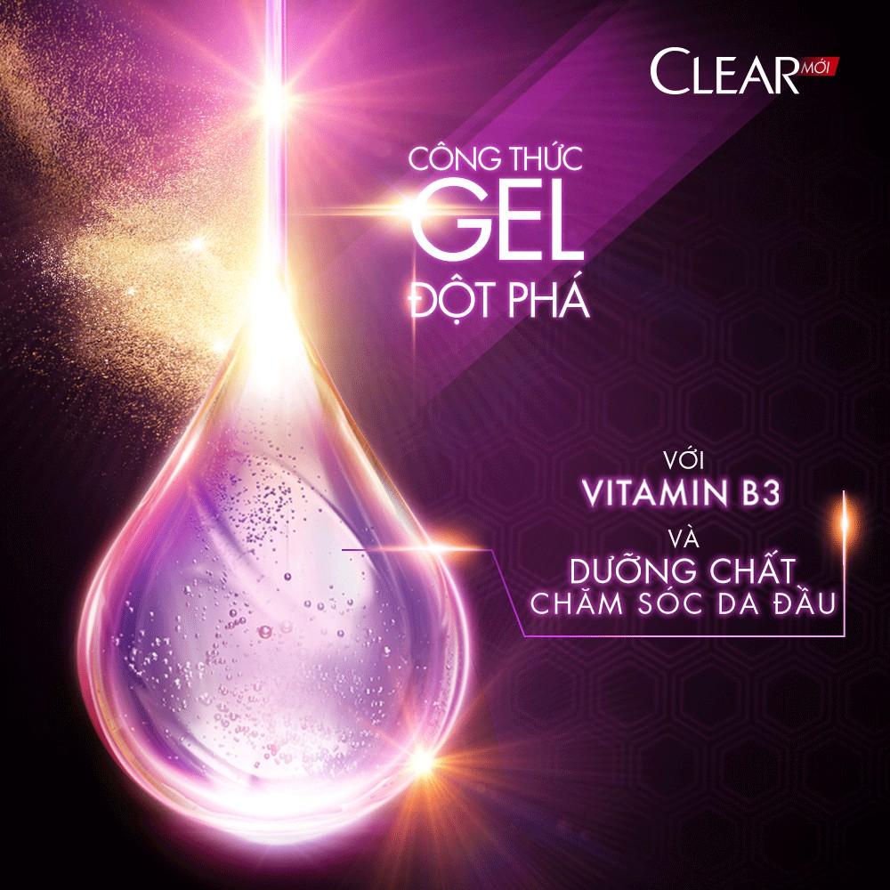 Dầu Gội Sạch Gàu CLEAR với Vitamin B3 và dưỡng chất chăm sóc da đầu