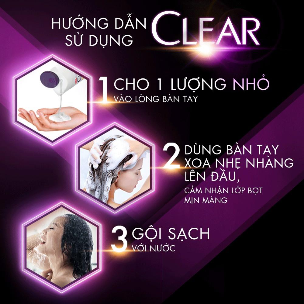 Dầu Gội Sạch Gàu CLEAR thích hợp sử dụng thường xuyên mà không làm khô tóc