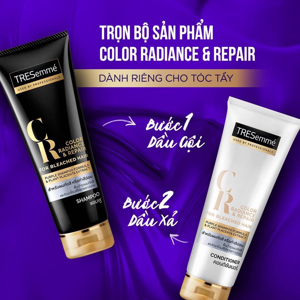 Sử dụng trọn bộ dầu gội - kem xả TRESemmé Color Radiance & Repair for Bleached Hair để mang lại hiệu quả tối ưu nhất