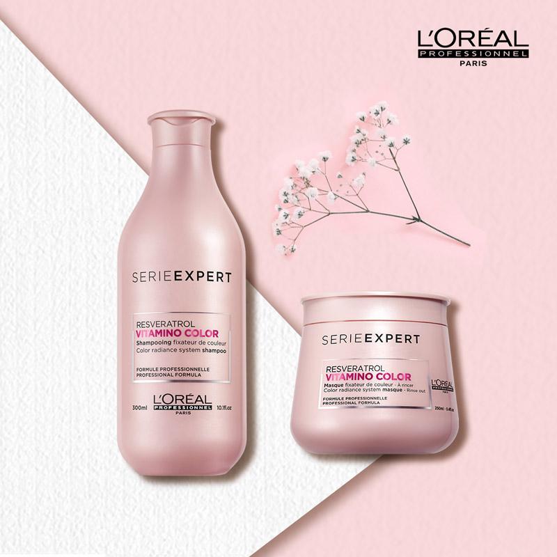 Dầu Hấp Bền Màu Tóc Nhuộm L'Oréal Professionnel Serie Expert Resveratrol Vitamino Color Mask