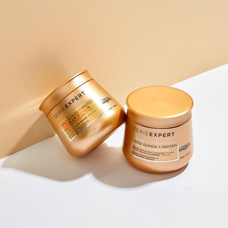 Dầu Hấp Phục Hồi Hư Tổn Toàn Diện L'Oréal Professionnel Serie Expert Absolut Repair Gold