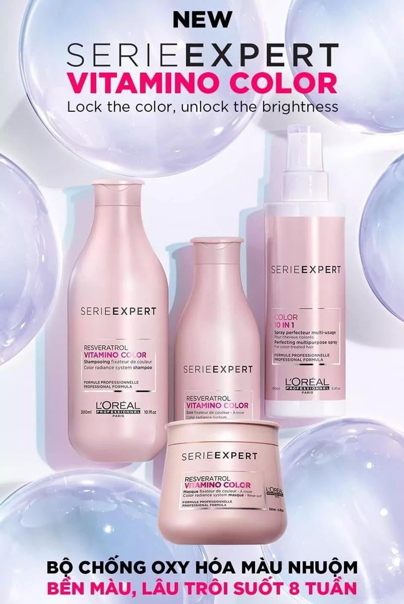 Dầu Xả Bền Màu Tóc Nhuộm L'Oréal Professionnel Serie Expert Resveratrol Vitamino Color Conditioner