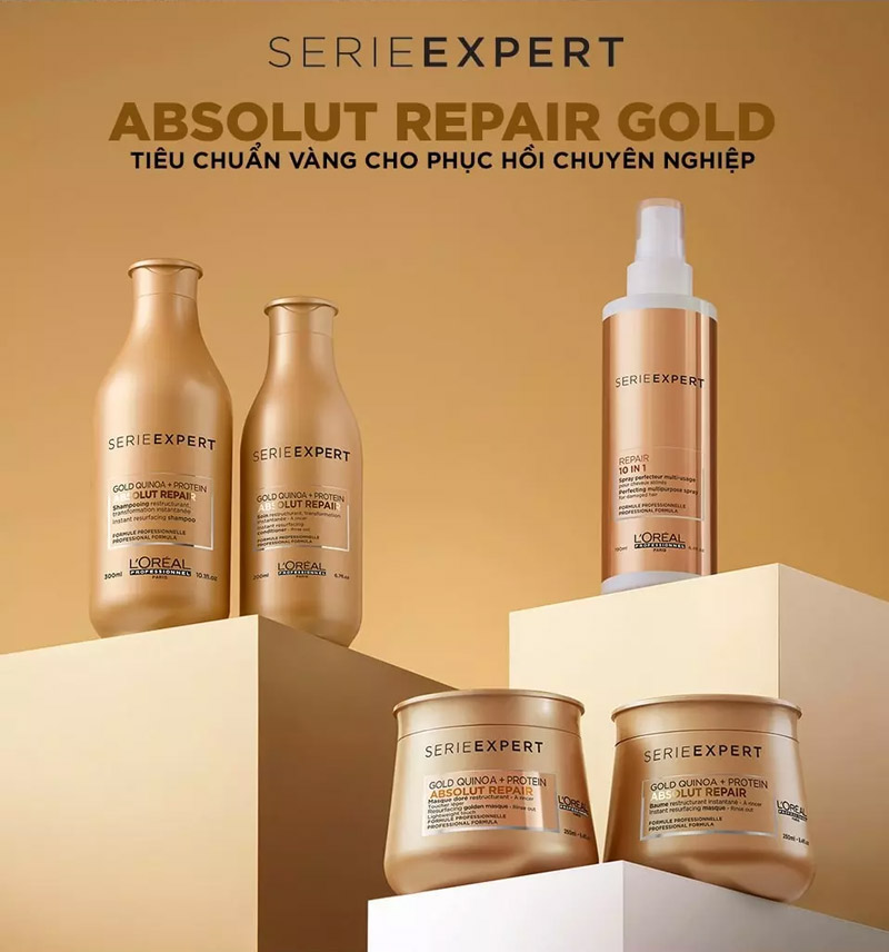 Dầu Xả L'Oréal Professionnel Serie Expert Absolut Repair Gold Quinoa + Protein Conditioner