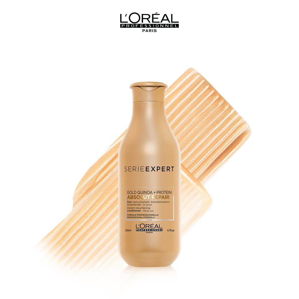 Dầu Xả L'Oréal Professionnel Phục Hồi Hư Tổn Toàn Diện Serie Expert Absolut Repair Gold Quinoa + Protein Conditioner 200ml
