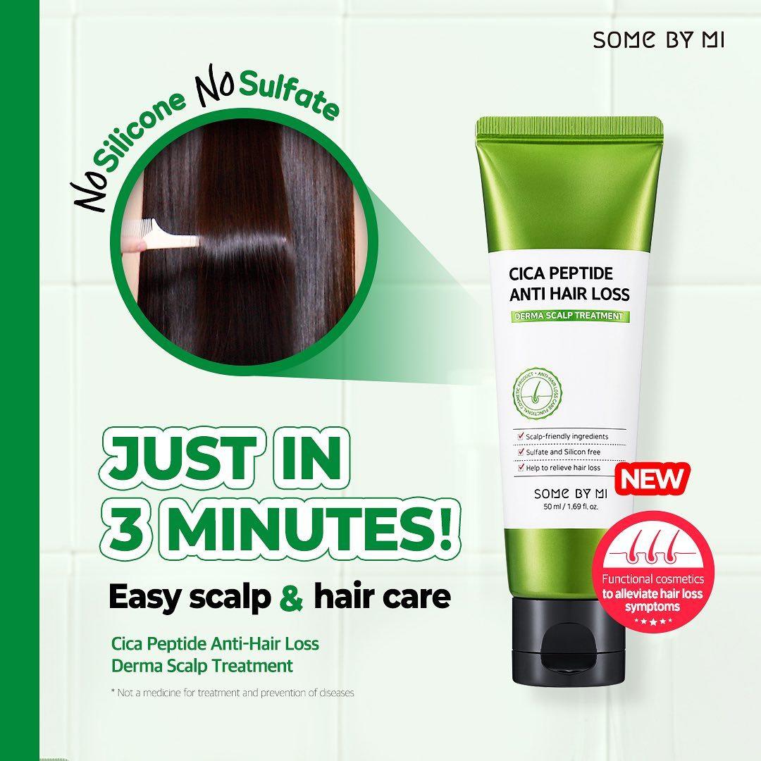 Dầu Xả Some By Mi Cica Peptide Anti Hair Loss Derma Scalp Treatment Phục Hồi & Kích Thích Mọc Tóc 50ml