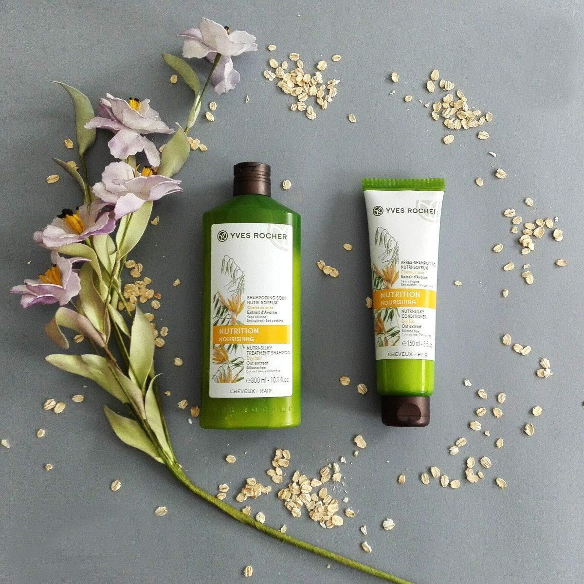 Dầu Xả Yves Rocher Nutrition Nourishing Nutri-Silky Conditioner cho tóc khô