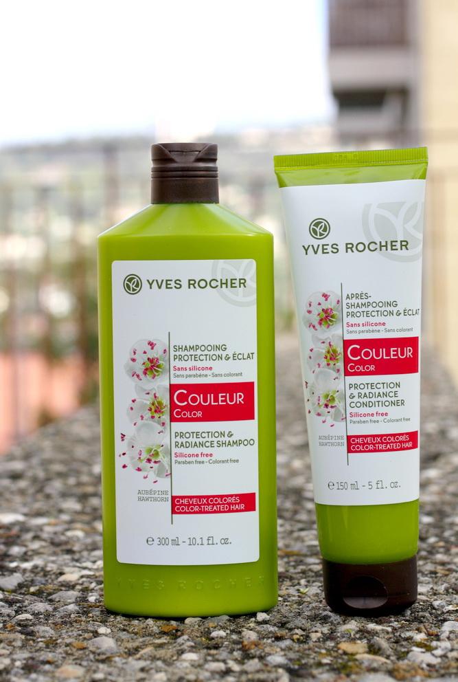 Dầu Xả Yves Rocher Couleur Protection & Radiance Conditioner giúp tóc mềm mượt và bền màu