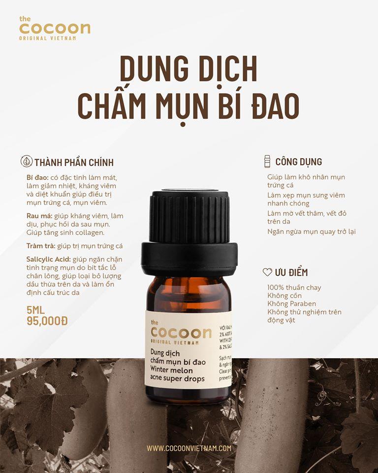 Dung Dịch Chấm Mụn Bí Đao Cocoon Winter Melon Acne Super Drops 5ml