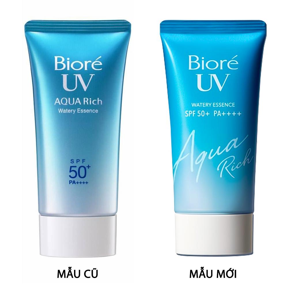 Essence Chống Nắng Bioré Màng Nước Dưỡng Ẩm Da UV Aqua Rich Watery Essence SPF50+/PA++++ mẫu mới