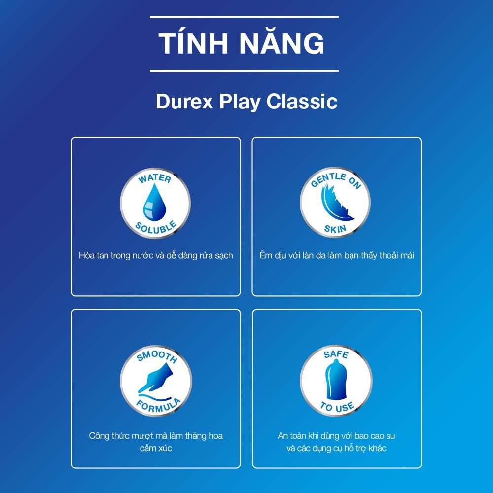 """Gel Bôi Trơn Durex Play Classic mang lại cảm giác thật mượt mà và êm ái cho """"cô bé"""""""