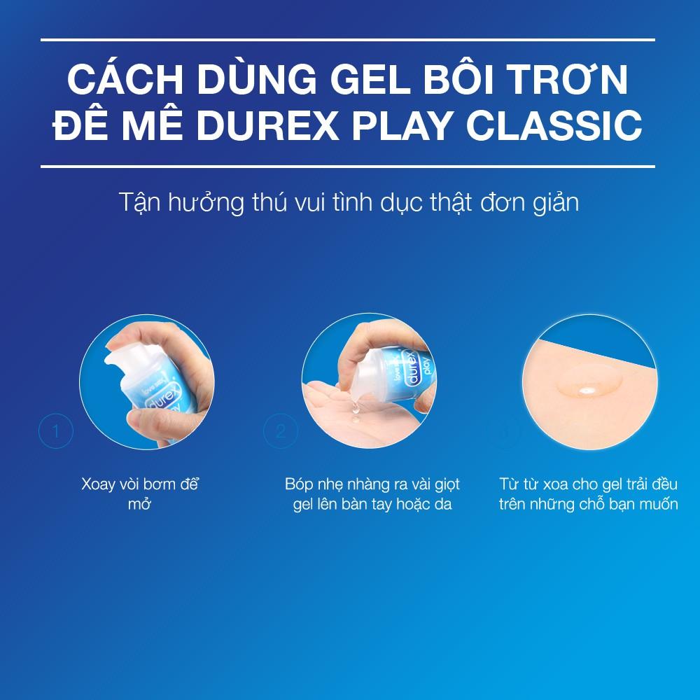 Gel Bôi Trơn Durex Play có công thức tinh khiết thuần gốc nước, dịu nhẹ, thích hợp sử dụng toàn thân