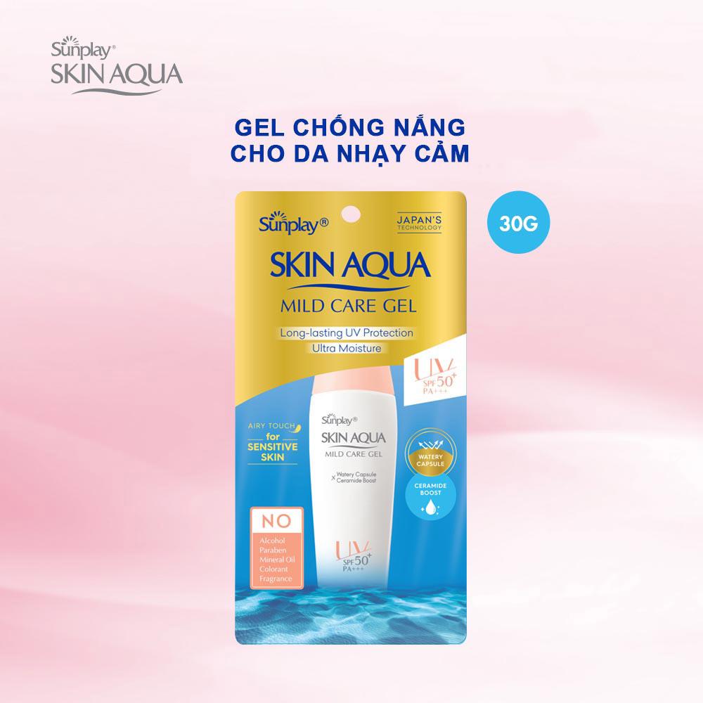 Gel Chống Nắng Cho Da Nhạy Cảm Sunplay Skin Aqua Mild Care Gel SPF50+ PA+++