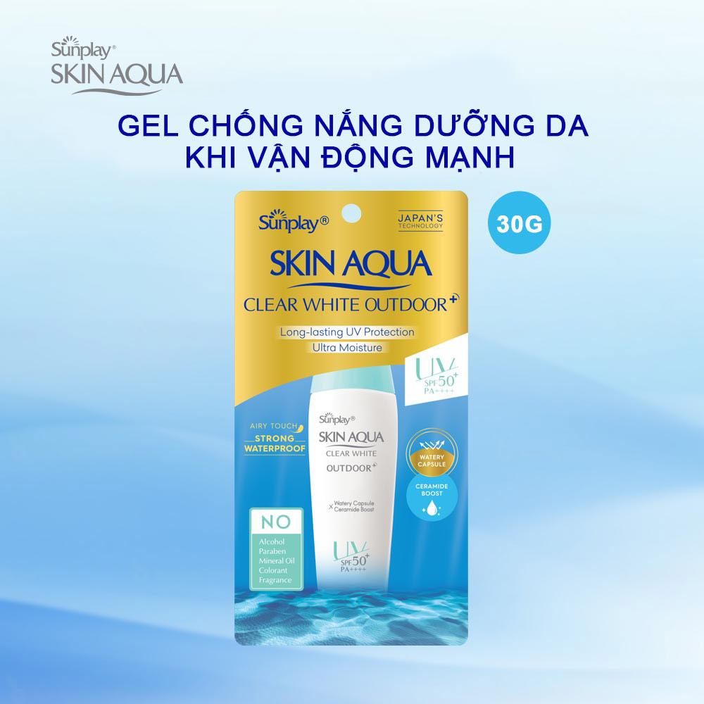 Gel Chống Nắng Sunplay Skin Aqua Clear White Outdoor SPF50+ PA++++ Dưỡng Da Khi Vận Động Mạnh