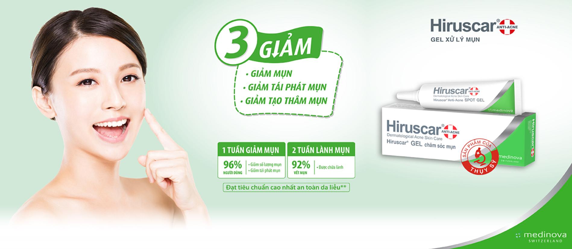 Gel Làm Giảm Mụn Hiruscar Anti Acne Spot Gel+ 10g