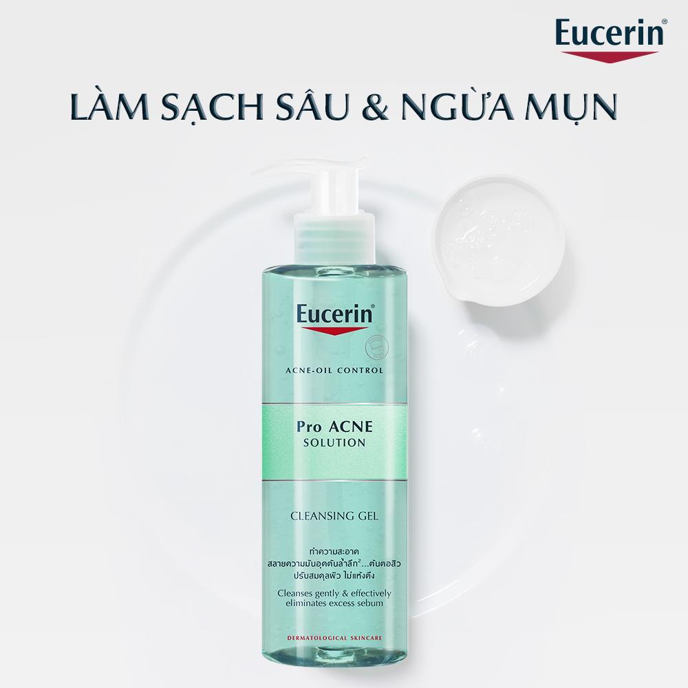 Gel Rửa Mặt Cho Da Dầu Mụn Eucerin ProAcne Solution Cleansing Gel hiện đã có mặt tại Hasaki