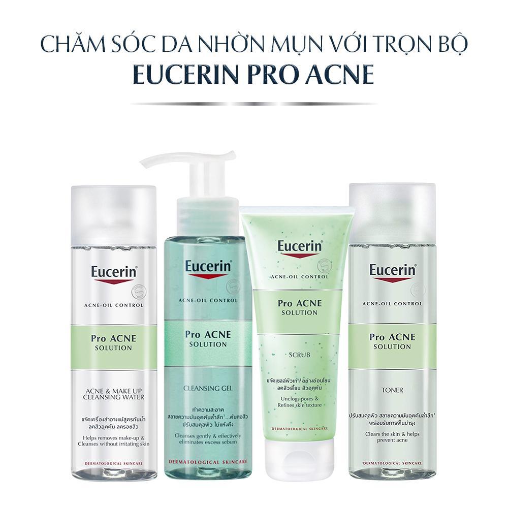 Sử dụng trọn bộ sản phẩm Eucerin Pro Acne Solution cho da nhờn mụn để đạt hiệu quả tốt nhất