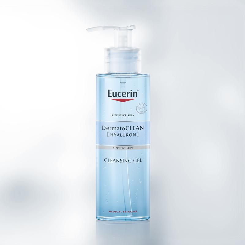 Gel Rửa Mặt Eucerin Làm Sạch Dịu Nhẹ Da Nhạy Cảm DermatoCLEAN Hyaluron Cleansing Gel