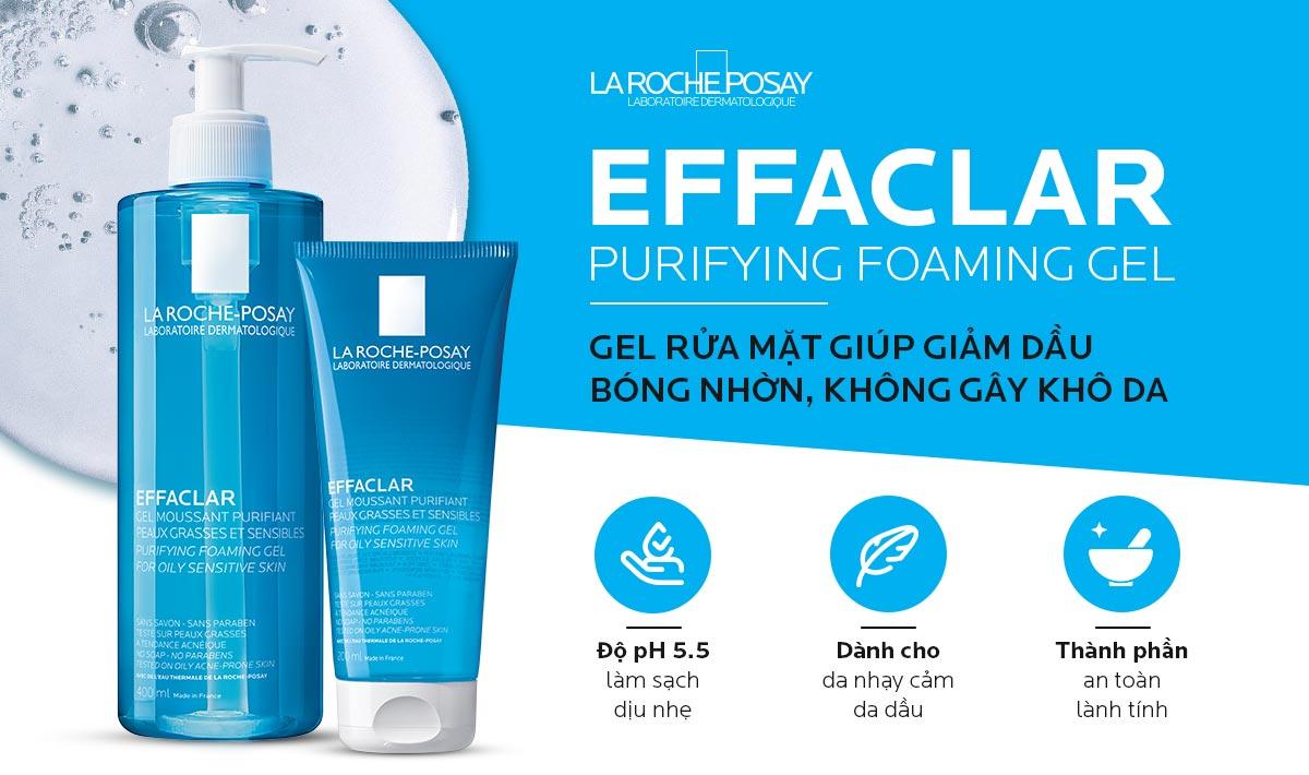 Gel Rửa Mặt La Roche-Posay Effaclar Purifying Foaming Gel For Oily Sensitive Skin