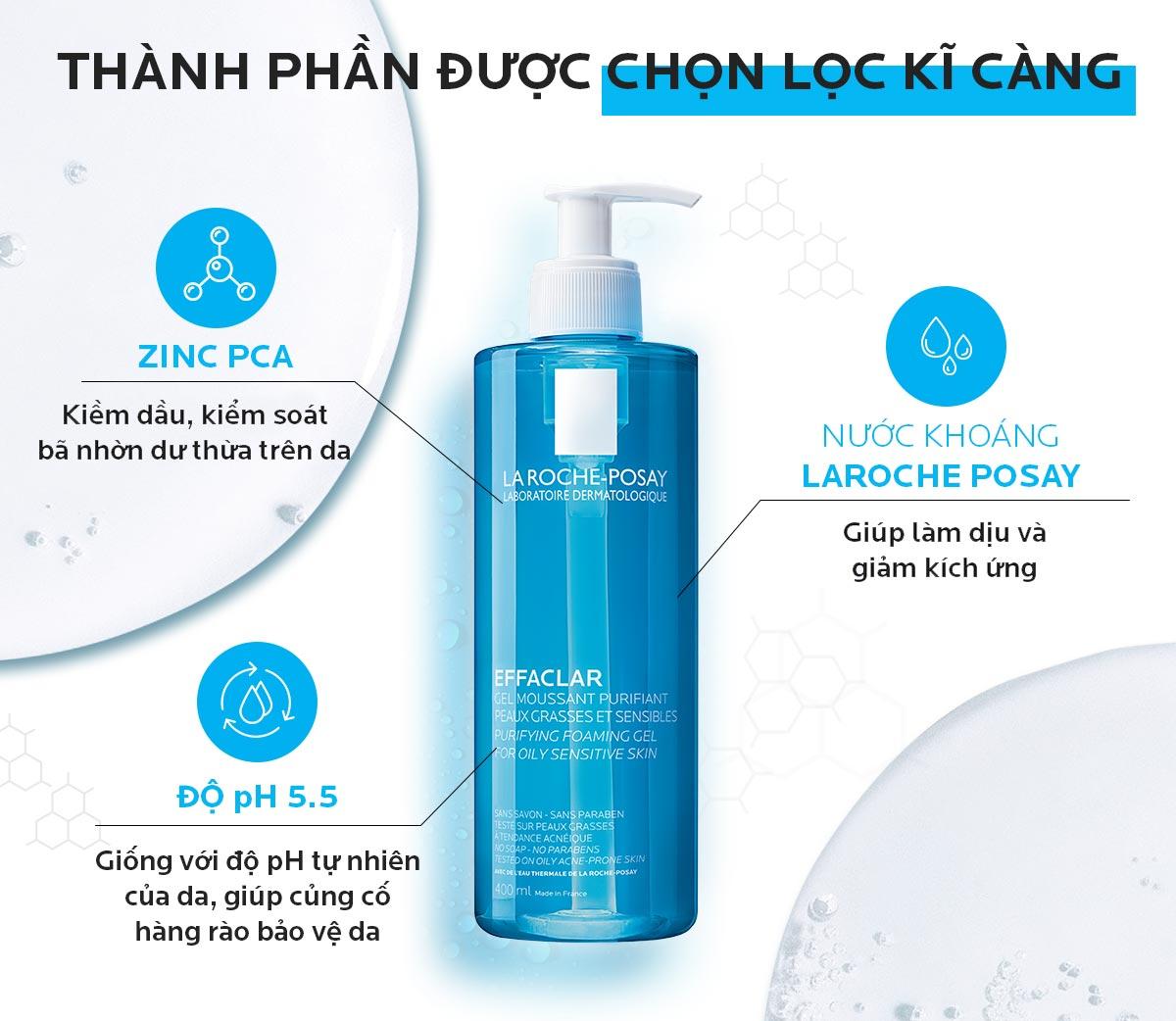 La Roche-Posay Effaclar Purifying Foaming Gel For Oily Sensitive Skin hiện đã có mặt tại Hasaki
