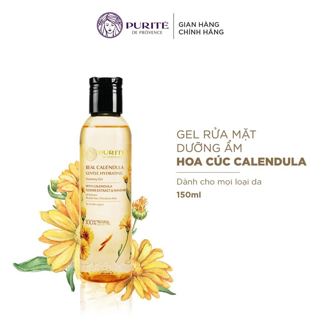 Gel Rửa Mặt Hoa Cúc Calendula Dưỡng Ẩm, Làm Dịu Da Purité Real Calendula Gentle Hydrating Cleansing Gel