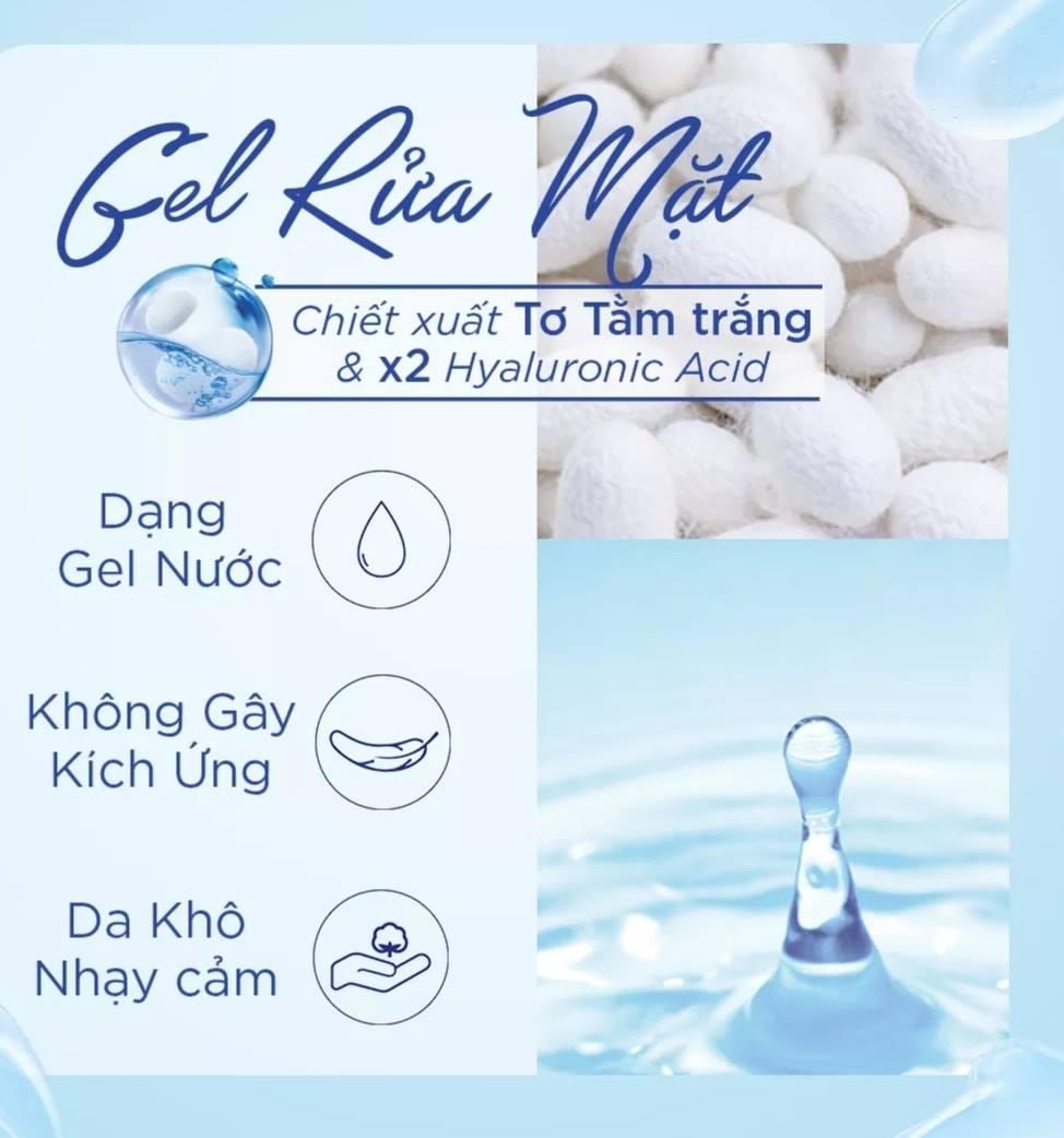 Sữa Rửa Mặt Senka Perfect Gel Gentle Wash phù hợp cho làn da khô, da nhạy cảm