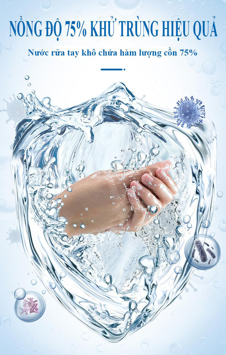 Gel Rửa Tay Khô Avatar 75% Alcohol ngăn ngừa bệnh dịch lây nhiễm