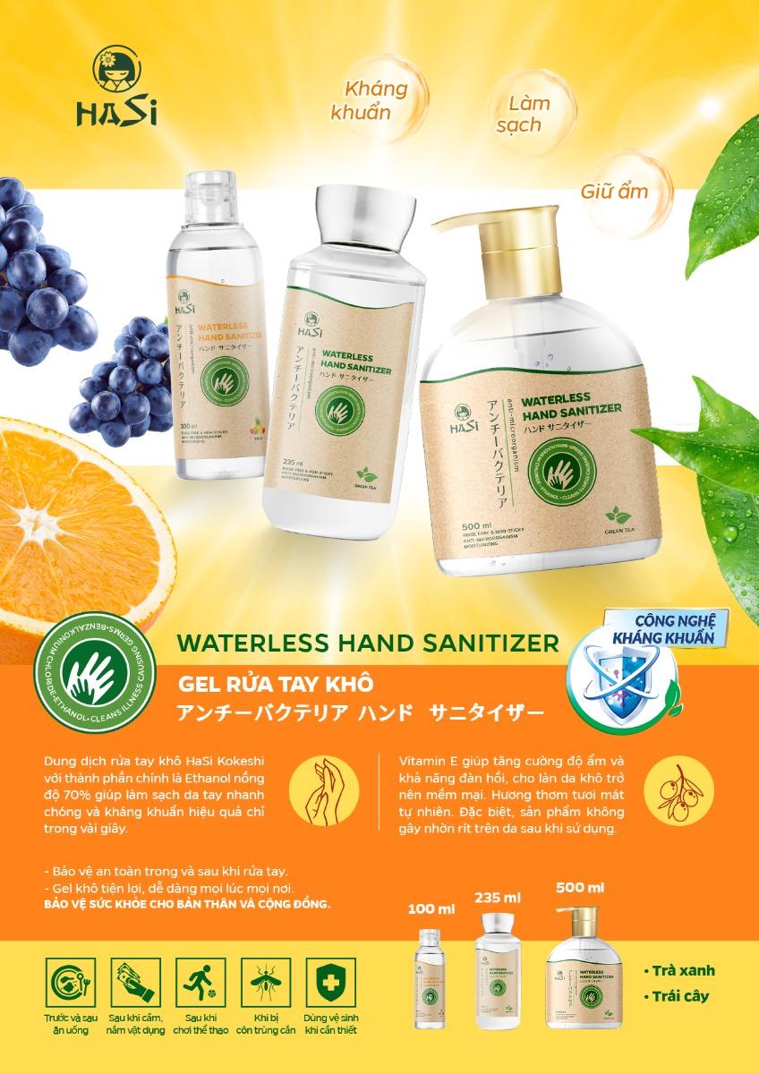 Gel Rửa Tay Khô Kháng Khuẩn Hasi Kokeshi Waterless Hand Sanitizer hiện đã có mặt tại Hasaki