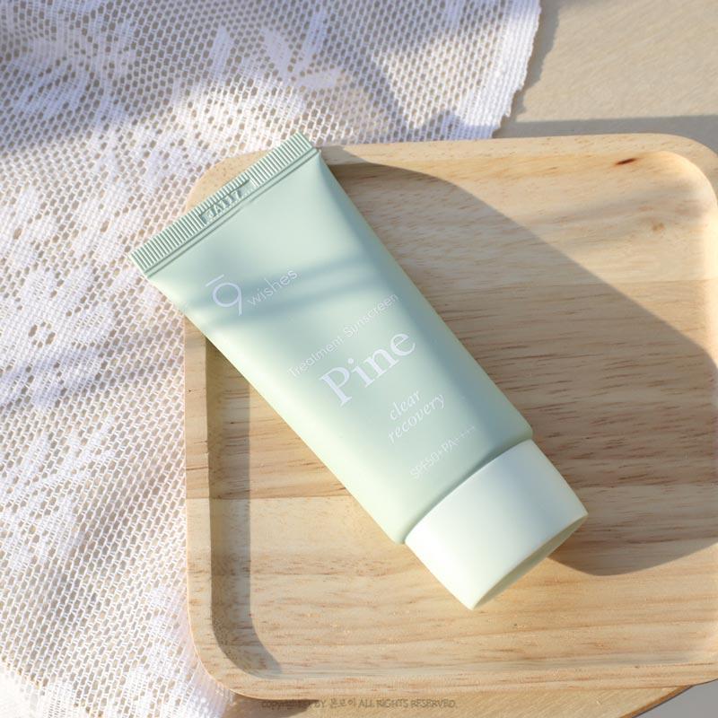 Kem Chống Nắng 9Wishes Cấp Ẩm, Hỗ Trợ Phục Hồi Da Pine Treatment Sunscreen SPF50+ PA++++ 50ml hiện đã có mặt tại Hasaki