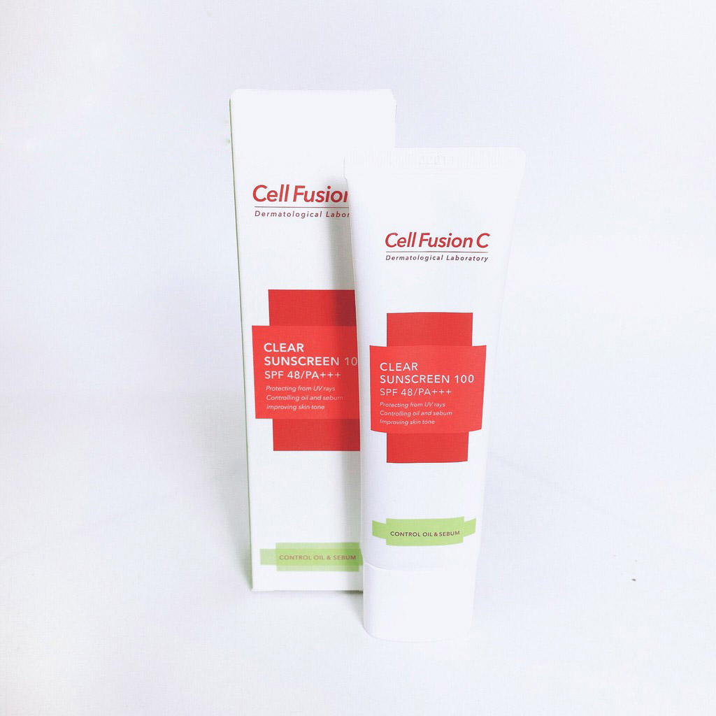 Kem Chống Nắng Cho Da Dầu, Mụn Céll Fùsion C Clear Sunscreen 100 SPF48 PA+++