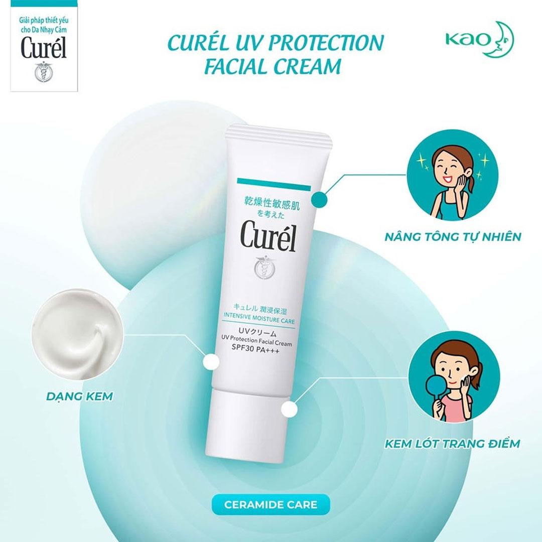 Kem Chống Nắng Curél UV Protection Face Cream SPF 30 PA+++