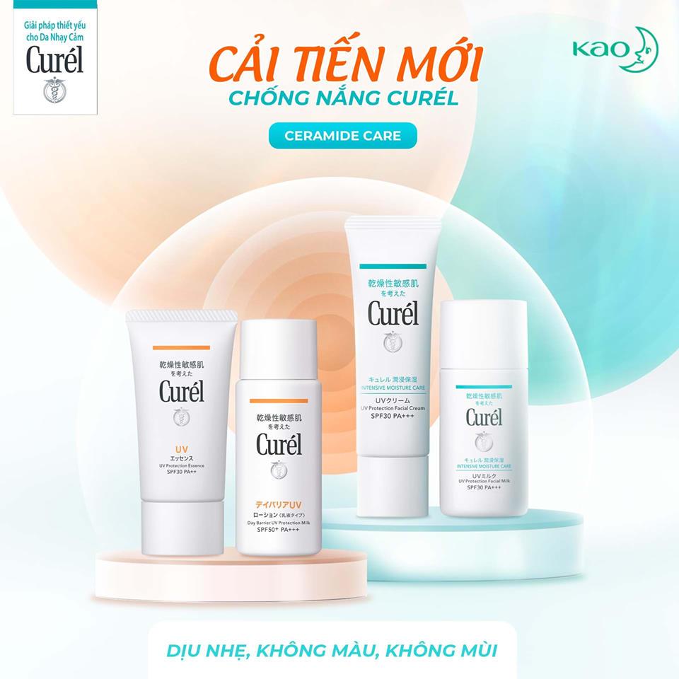 Kem Chống Nắng Curél UV Protection Face Cream SPF 30 PA+++ phiên bản mới cải tiến 2021