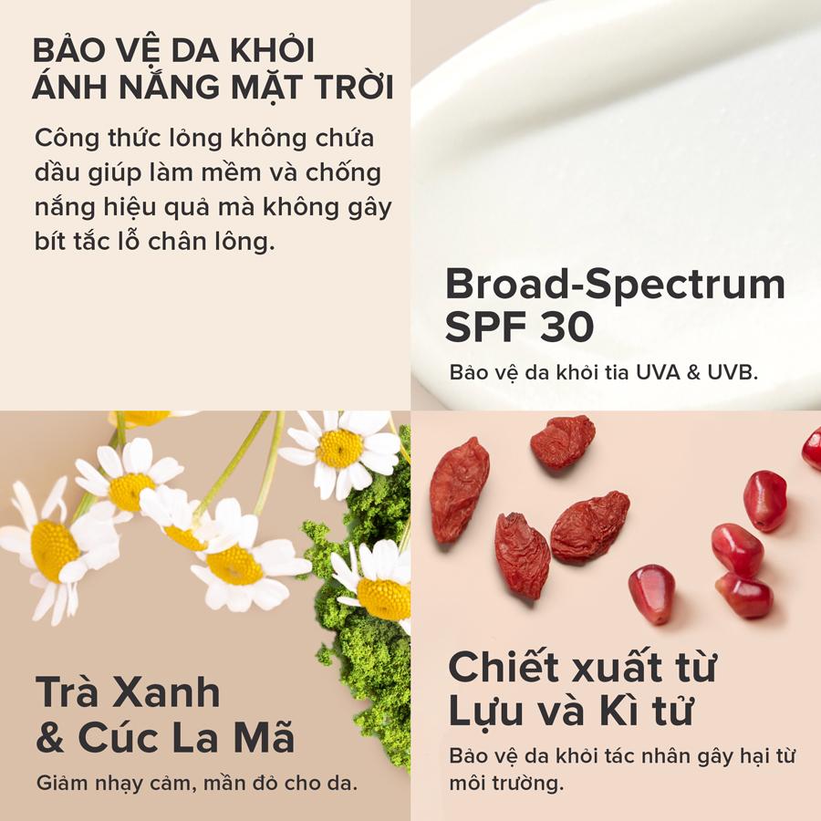 Kem Chống Nắng Paula's Choice Clear Ultra-Light Daily Hydrating Fluid Broad Spectrum SPF 30+ ngăn ngừa dấu hiệu lão hóa da.