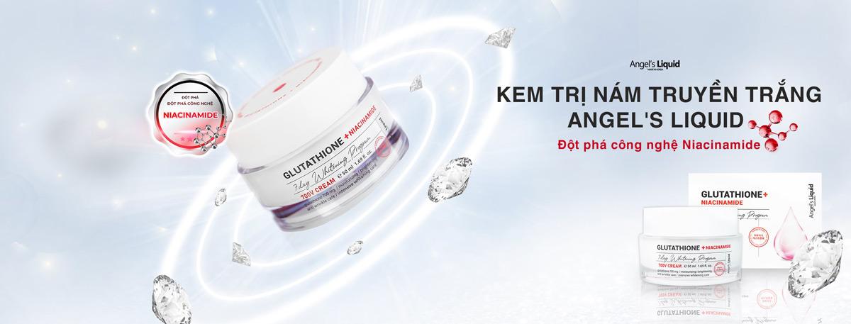 Kem Dưỡng Angel's Liquid Glutathione + Niacinamide 7Day Whitening Program 700 V-Cream Dưỡng Sáng Da, Mờ Thâm Nám
