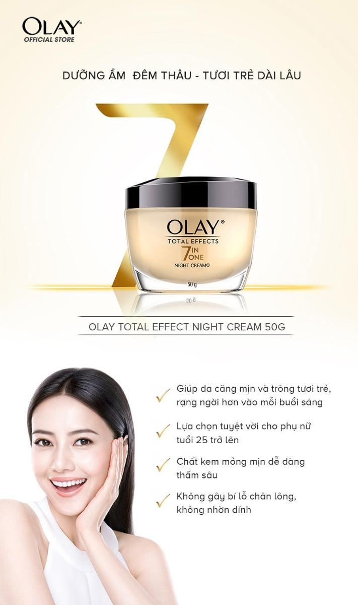 Kem Dưỡng Ban Đêm Ngừa Lão Hóa Olay Total Effects 7 in One Night Cream 50g