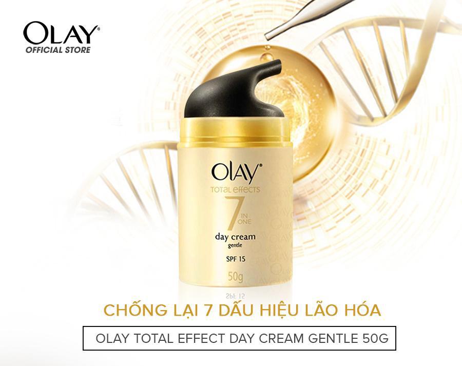 Kem Dưỡng Dịu Nhẹ Ban Ngày Ngừa Lão Hóa Olay Total Effects 7 in One Day Cream Gentle SPF15 50g