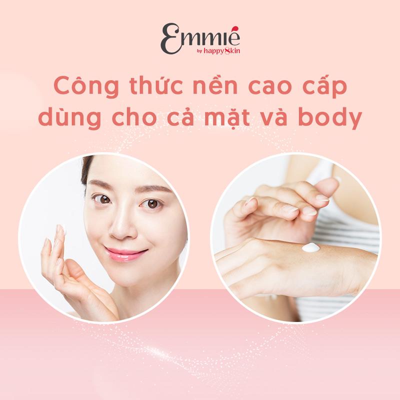Kem Dưỡng Emmié Face & Body 5% Niacinamide Emulsion có công thức nền cao cấp dùng được cho cả mặt và body.