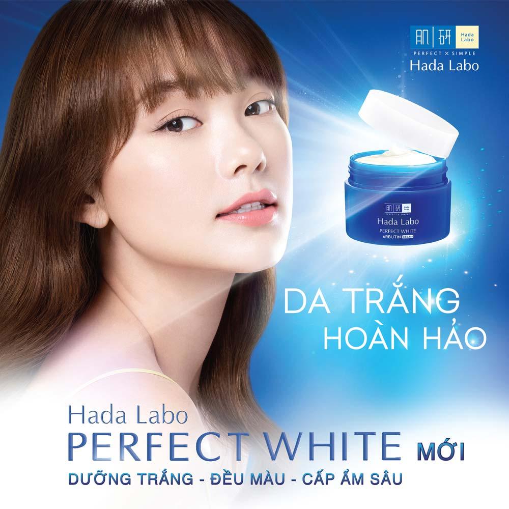 Kem Dưỡng Hada Labo Perfect White Arbutin Cream dưỡng da sáng mịn ẩm mượt