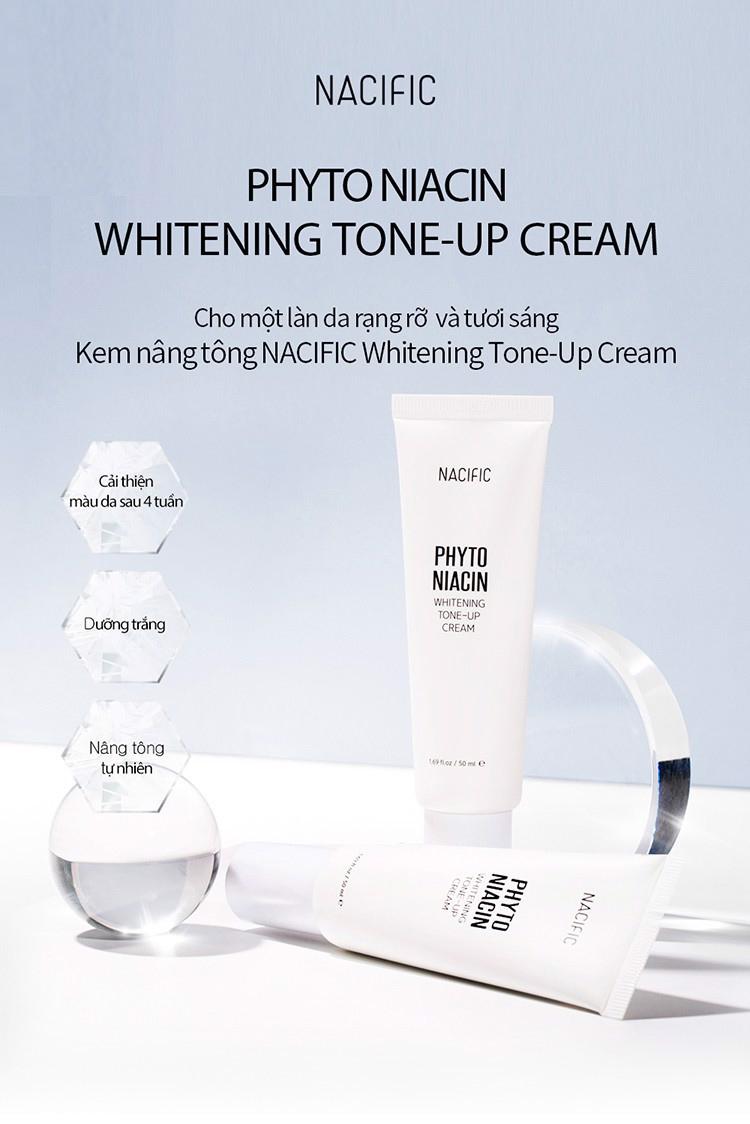 Kem Dưỡng Sáng Da, Nâng Tông & Ngừa Nếp Nhăn Nacific Phyto Niacin Whitening Tone-Up Cream