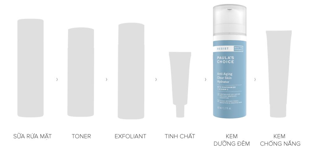Kem Dưỡng Làm Sáng Da, Ngừa Lão Hóa Paula's Choice Resist Anti-Aging Clear Skin Hydrator 50ml phù hợp cho làn da thường dến dầu, da lão hóa, da nhạy cảm.