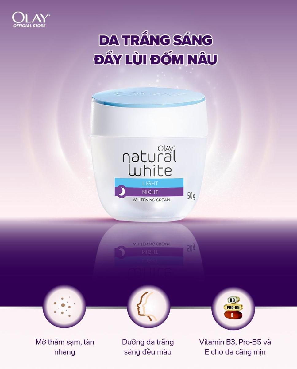 Kem Dưỡng Sáng Da Ban Đêm Olay Natural White LIGHT NIGHT Whitening Cream