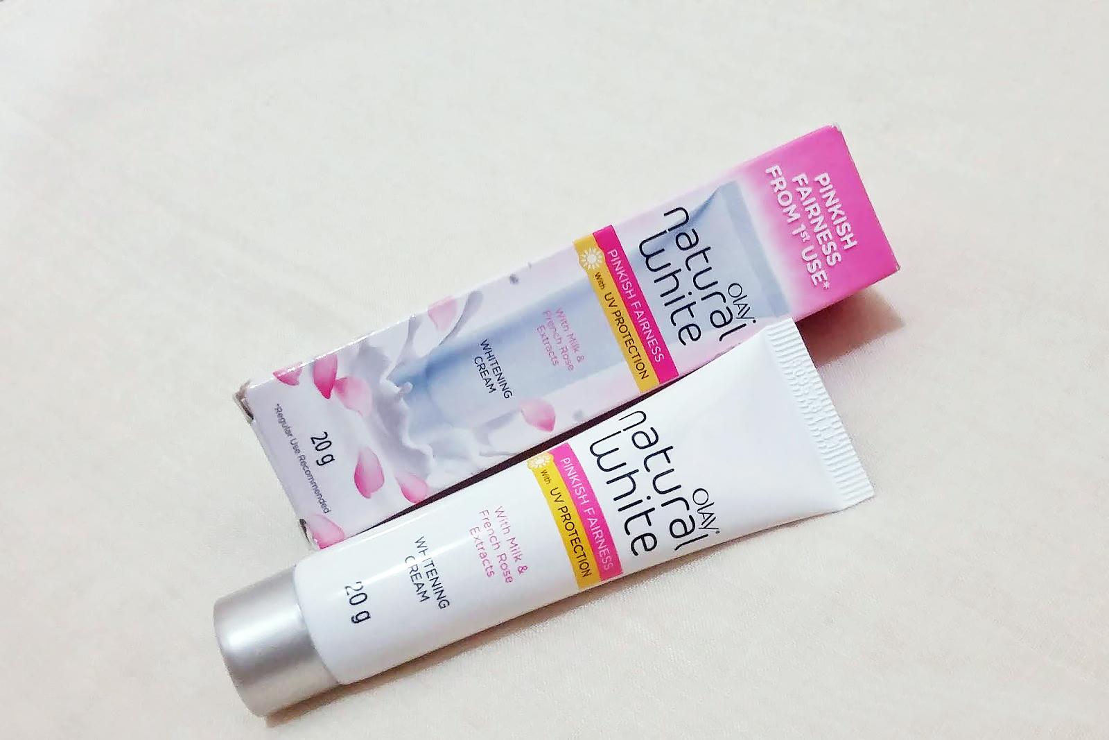 Thiết kế bao bì Kem Dưỡng Sáng Hồng Tự Nhiên Ban Ngày Olay Natural White UV 20g (dạng tuýp)