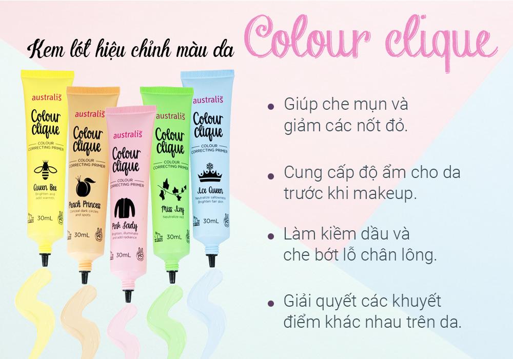 Kem Lót Hiệu Chỉnh Màu Da Australis Colour Clique CC Primer 30ml hiện đã có mặt tại Hasaki