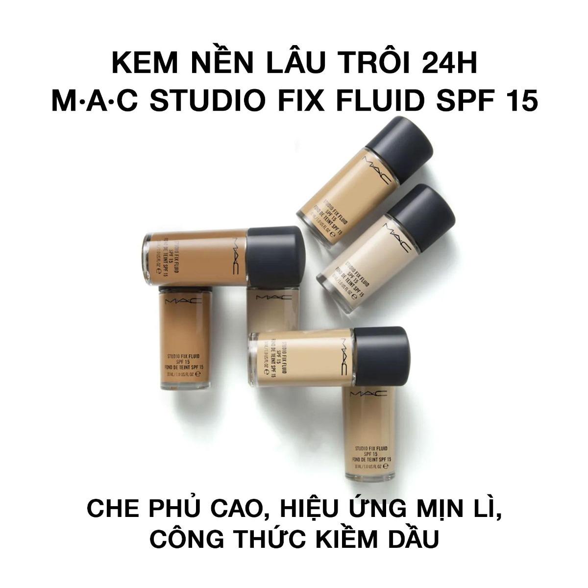 Kem Nền Kiềm Dầu MAC Studio Fix Fluid SPF 15 Fond De Teint SPF 15
