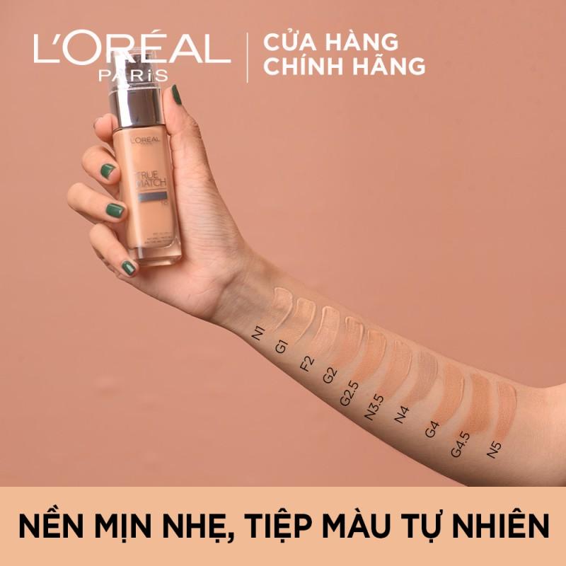 Kem Nền L'Oréal Paris Mịn Nhẹ Dưỡng Da Dạng Lỏng True Match Super-Blendable Foundation 30ml