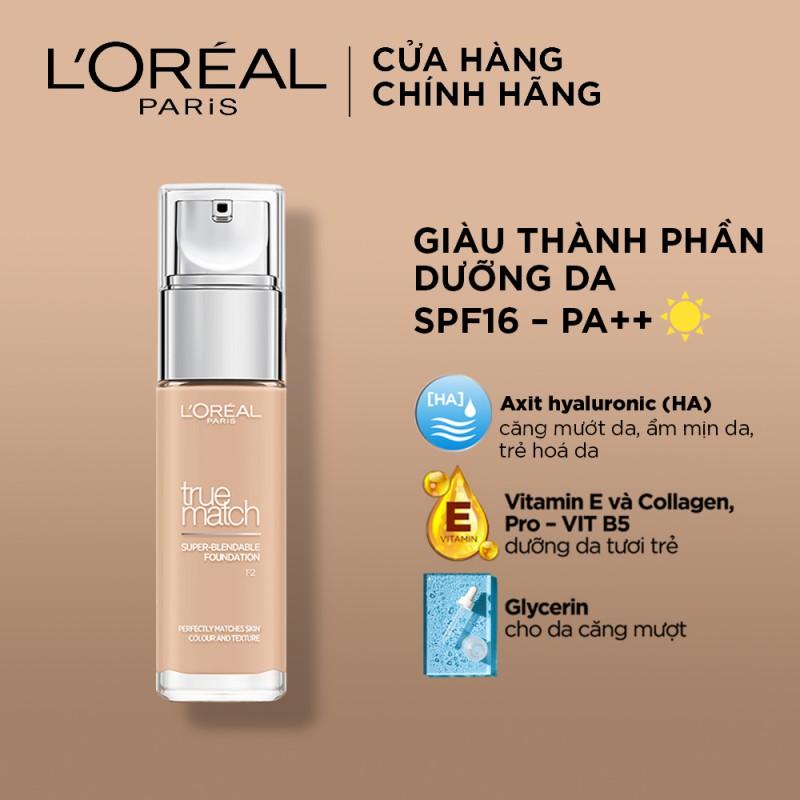 Kem Nền L'Oréal True Match Super-Blendable Foundation giúp mang lại lớp nền mịn nhẹ tự nhiên.
