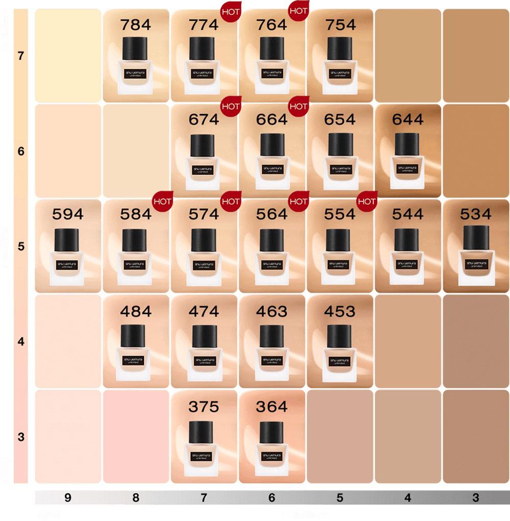 Kem Nền Mỏng Nhẹ Chuẩn Bền Shu Uemura Unlimited Fluid Foundation SPF24 PA+++ 35ml hiện đã có mặt tại Hasaki với 2 tone màu.