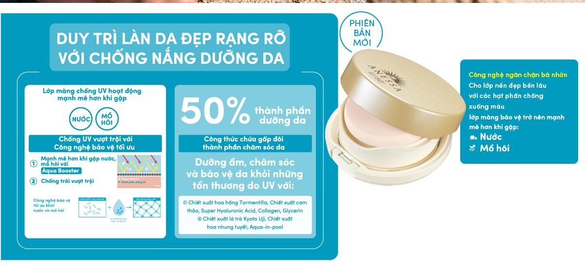 Kem Nền Trang Điểm Chống Nắng Dạng Nén Anessa Perfect UV Sunscreen Skincare Makeup Base SPF50+ PA+++ 10g hiện đã có mặt tại Hasaki