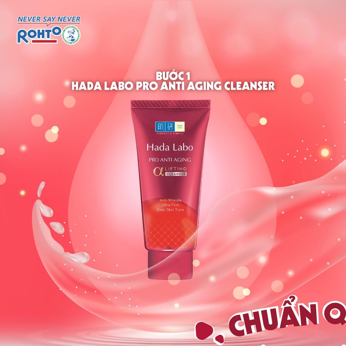 Kem Rửa Mặt Cải Thiện Lão Hóa Da Hada Labo Pro Anti Aging α Lifting Cleanser
